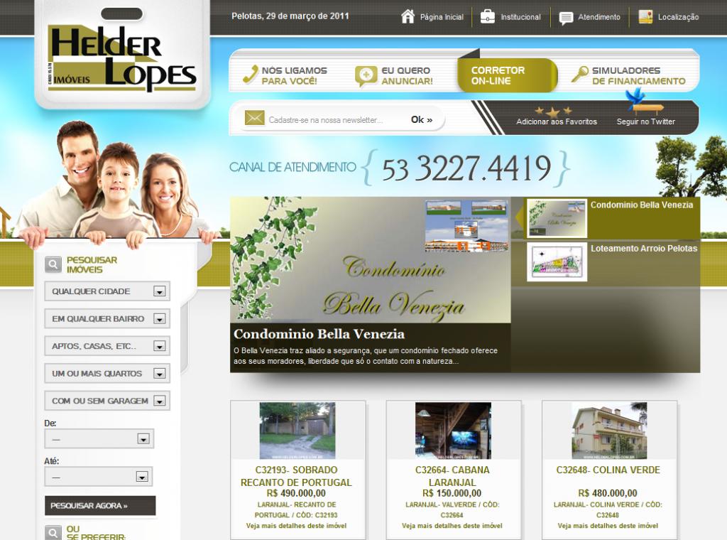 Site Imóbiliaria Helder Lopes