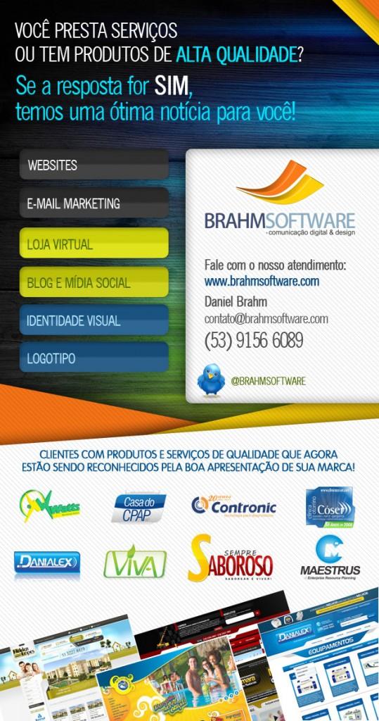 BrahmSoftware.com - criação de sites,  criação de sites de comércio eletrônico, criação e distribuição de e-mail marketing, criação de identidade visual e logomarcas